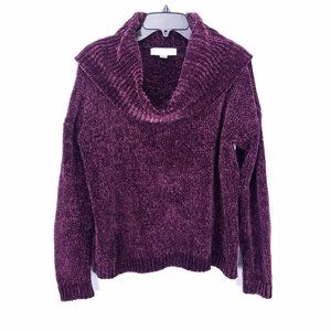 Michael Kors Purple Chenille Sweater